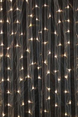 Organza Curtain Lights 4x8 Warm White LED Lights, Event Decor