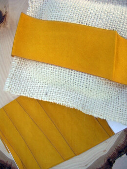 "Custom Dyed Silk Ribbon Golden Yellow 1.5"" width 3 yards"