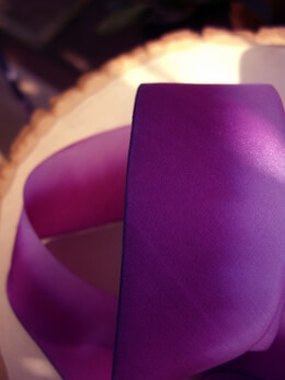 "Custom Dyed Silk Ribbon Purple Haze 1.5"" width 38 yards"
