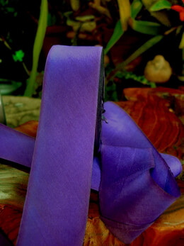 "Custom Dyed Silk Ribbon Savor Purple 1.5"" width 38 yards"