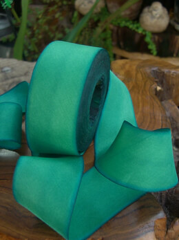 "Custom Dyed Silk Ribbon Turquoise 1.5"" width 38 yards"