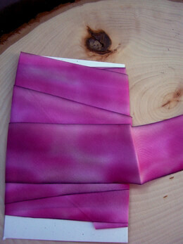 "Custom Dyed Silk Ribbon Viola Lee Pink & Purple 1.5"" width 3 yards"