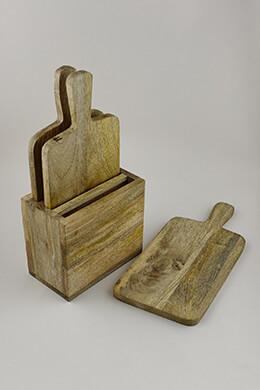 Set of Three Mango Cutting Boards