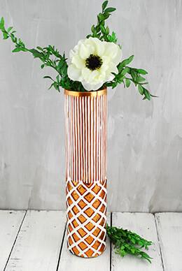 Cylinder Vase Bohemian 13in