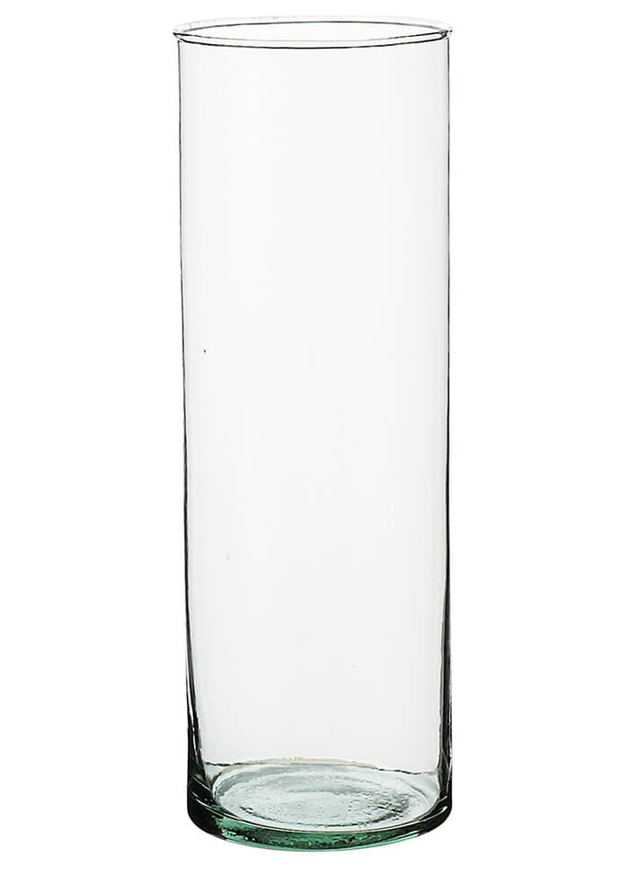 "Clear Glass Cylinder Vase 10-1/2"""