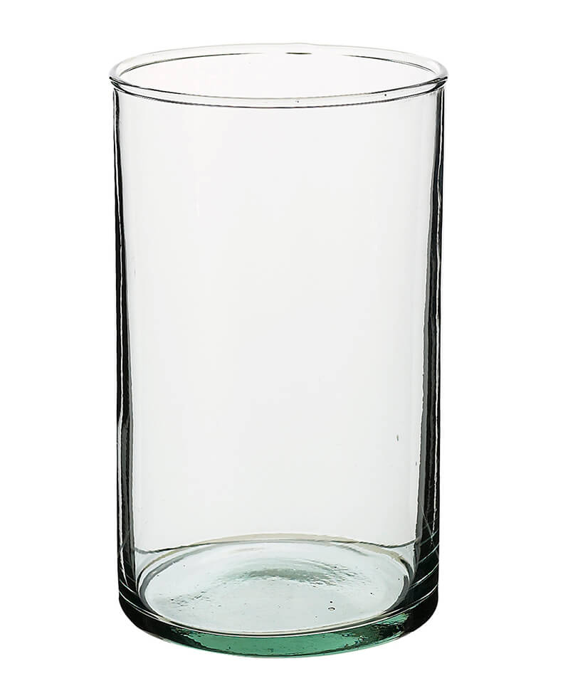Clear Glass Cylinder Flower Vases 4x6
