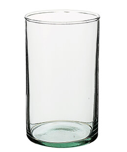 Cylinder Vase Recycled Glass 6in