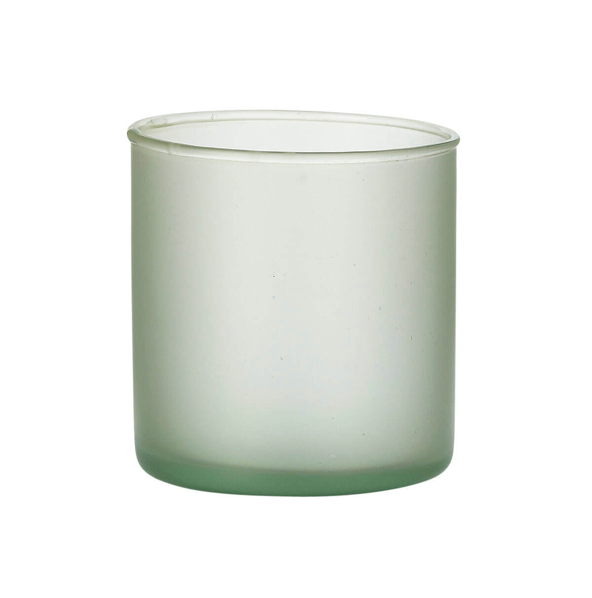 Frosted Recycled Glass 3.75in Cylinder Vases Sea Mist