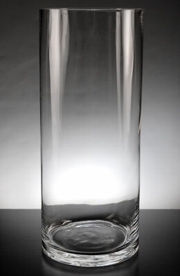 Clear Glass 6 x 14 Cylinder Vases