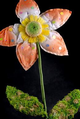 Daisy Flower Prop Size Cloth Orange