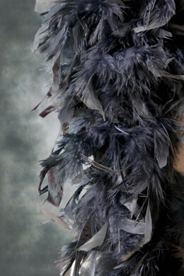 "Feather Gray Boa 9"" Wide x 72in"
