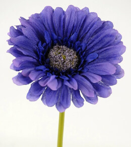 Silk Gerbera Daisy Bouquet Dark Purple (24 flowers)