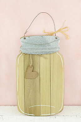 Mason Jar Wall Plaque