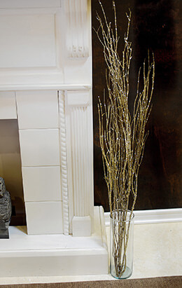 Decorative Birch Branches Gold 40in