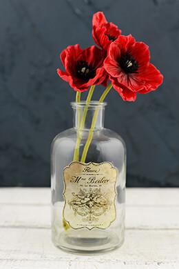 Decorative Glass Bottle 6in