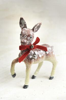 Vintage Christmas Deer Ornament 6.5in