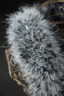 "Designer Feather Boas Marabou Raccoon 5"" wide 40gram"