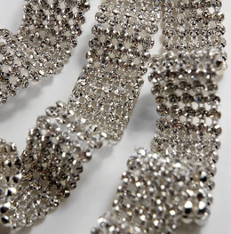 Rhinestone Ribbon 1in by 3 yards (Glass Stones)