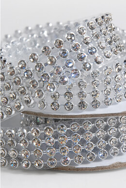 Diamond Ribbon Trim with Glass Stones 3/4in x 41in