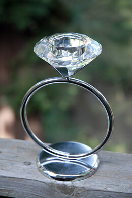 Diamond Ring Tea light Holder