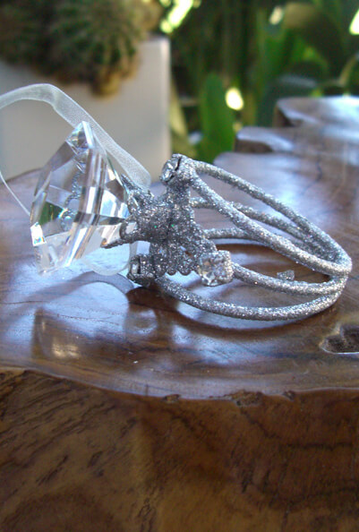 "Giant 3"" Diamond Rings / Napkin Rings"