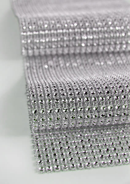 "Diamond Mesh Wrap 4.75"" (6.5ft roll)  Simulated Rhinestones"