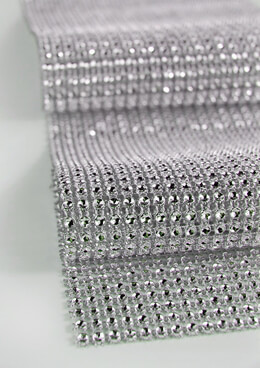 "Diamond Mesh Wrap 4.75"" (6.5ft roll) Rhinestone Ribbon"