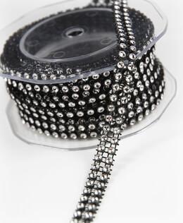 Diamond Wrap Clear and Black 2 Row 5 yards