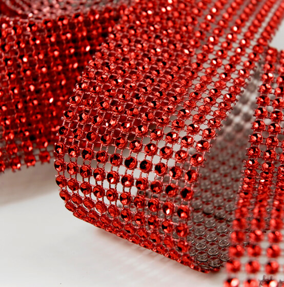 "Diamond Wrap Red 2"" wide x 8.5 feet (10 rows)"