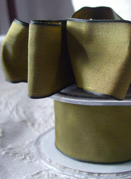 Dijon Green Taffeta Wired Ribbon  1.5in x 9 yds.