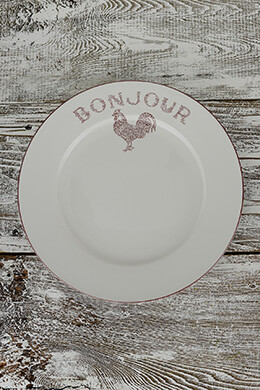 Dinner Plate Red Rooster (Pack of 4)