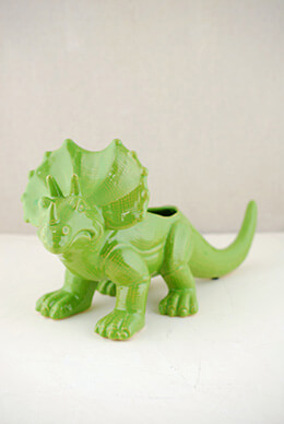 Dinosaur Planter Green