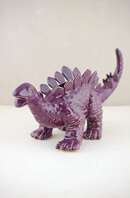 Dinosaur Planter Purple