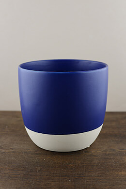 Dip Dyed Pot Cobalt 7in