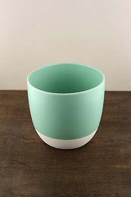 Dip Dyed Pot Turquoise 7in