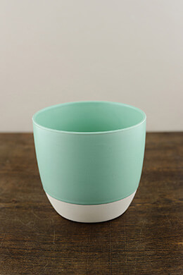 "Bumble Ceramic Flower Pots 5.5"" x 5"" Aqua"
