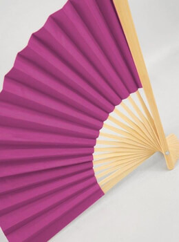 Fuchsia Pink Paper Fan 9in