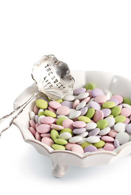 "Mud Pie� Ceramic Candy Dish & ""The Sweet Life"" Spoon Set"