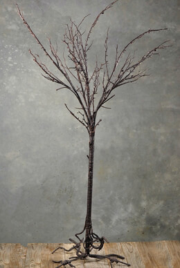 Decorative Tree with Root Base Brown 50in