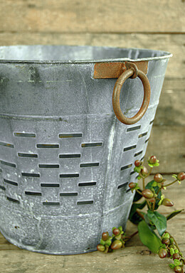 "Tuscan Olive Bucket 12"""