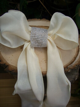 DIY  Diamond Mesh Chair Sash Bands
