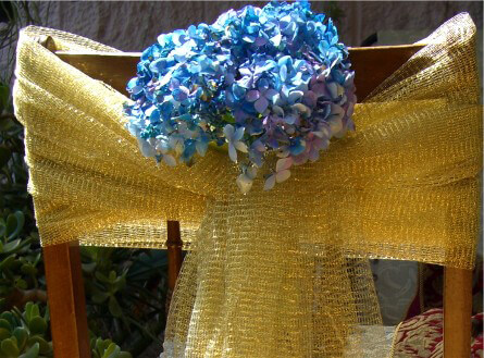 DIY: How to make Decorated Chair Backs with Tulle