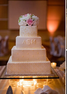 DIY: Making a wedding cake platform with cube vases