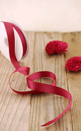 Double Face Satin Ribbon Burgundy 5/8in