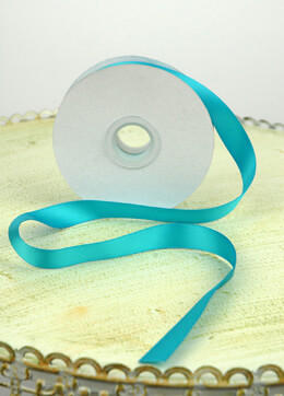 Double Face Satin Ribbon Turquoise 5/8in