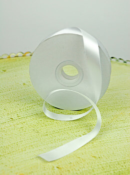 Double Face Satin Ribbon White 5/8in