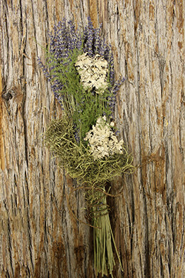 Dried Bouquet Moss & Lavender 18in
