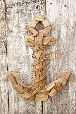 Driftwood Anchor 15.5 x 14