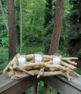 Driftwood Candle Holder (3 Cups)