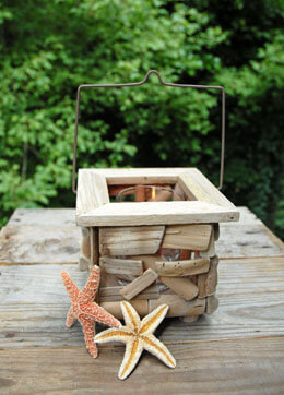 Driftwood Lantern Square 6in
